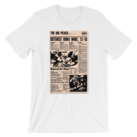 1977 Iowa-Iowa State game T-shirt