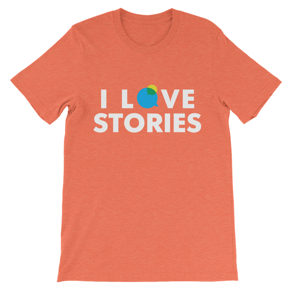 I Love Stories T-Shirt (White)