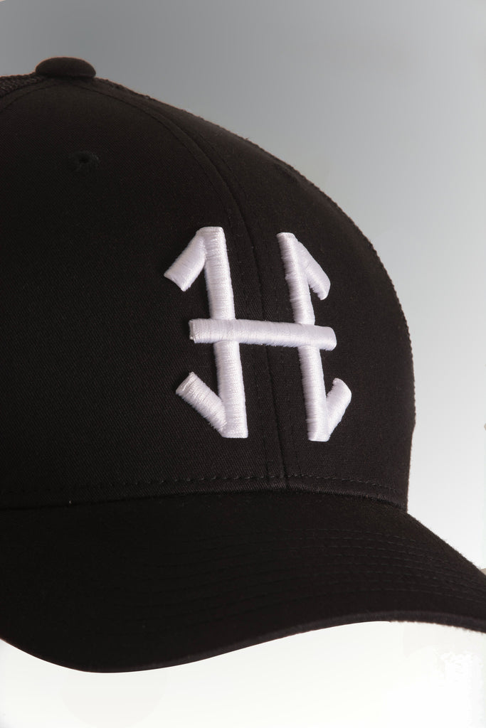 'H' Mesh Trucker Cap | Available Black & Grey