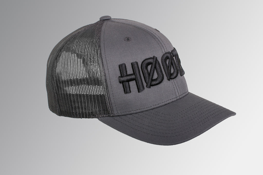 'Hoozy' Mesh Trucker Cap | Available Black & Grey