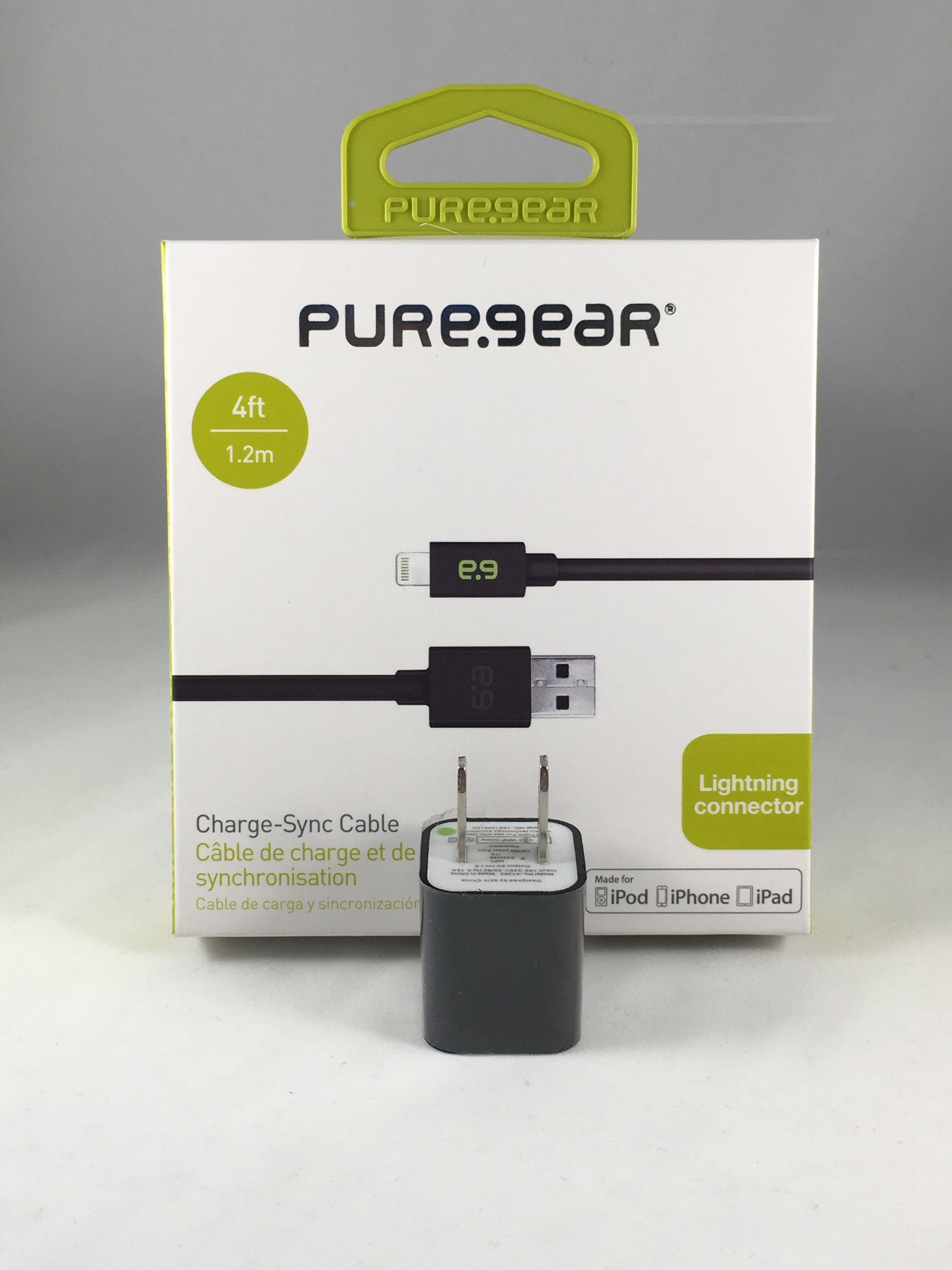 Pure Gear® Lightning Connector, Cable + Charger