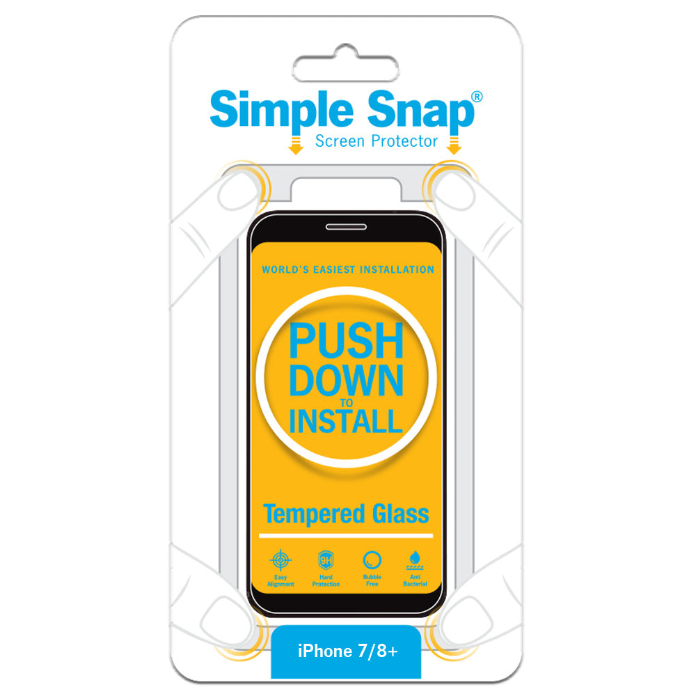 Simple Snap Screen Protector for iPhone 7 Plus and 8 Plus