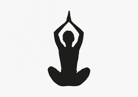 Yoga Silhouette Vinyl Artwork