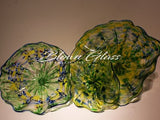BGC#SD-E126 Wall and Ceiling Hand-Blown Glass Plate