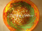 BGC#SD-E155 Wall and Ceiling Hand-Blown Glass Plate