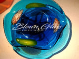 BGC#SD-E181 Wall and Ceiling Hand-Blown Glass Plate