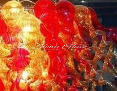 Blown Glass chihuly Style light