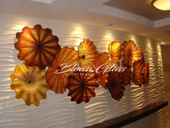 Hand Blown Glass Wall Plates Landscape