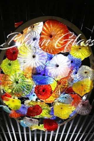 Ceiling in Bloom Hand Blown Glass Plates
