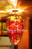 Mediterranean Metal Hand Blown Glass Chandelier - Blown Glass Collective