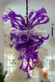 Purple Paradise Hand Blown Glass Chandelier - Blown Glass Collective