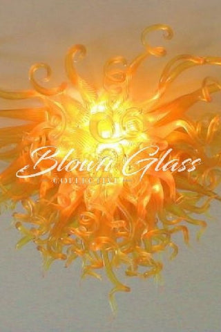 Golden Dawn Hand Blown Glass Chandelier - Blown Glass Collective