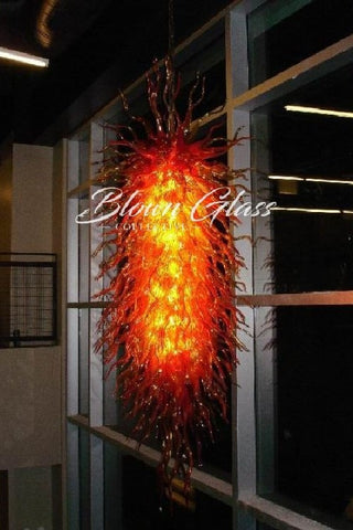 Rising Flames Hand Blown Glass Chandelier - Blown Glass Collective