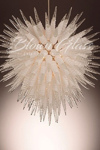 Icicle Fantasy Hand Blown Glass Chandelier