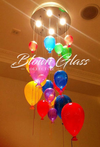 Child's Play Hand Blown Glass Chandelier by Blown Glass Collective