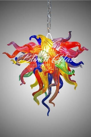 Crayons Exploding Hand Blown Glass Chandelier