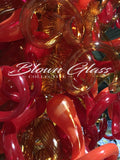 Passion Fruit Hand Blown Glass Chandelier