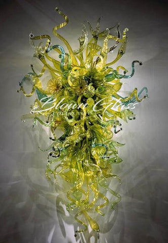 Spring Grass Dew Hand Blown Glass Wall Sconce - Blown Glass Collective