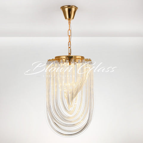 Bathroom Chandeliers - Twisted Time - Blown Glass Collective