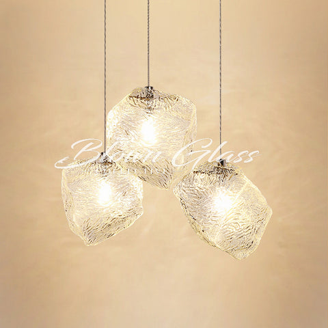 Blown Glass Pendant Lights - Rock Candy