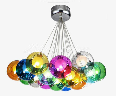 Chandelier - Balloons Suspended - Blown Glass Collective