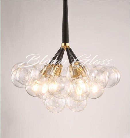 Modern Dining Room Chandelier - Global Motion - Blown Glass Collective