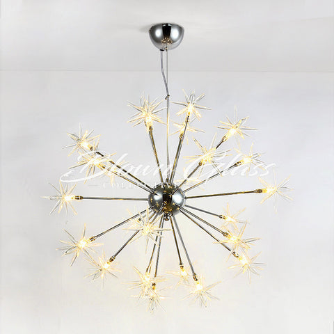 Pendant Lighting - Modern Star Light - Blown Glass Collective