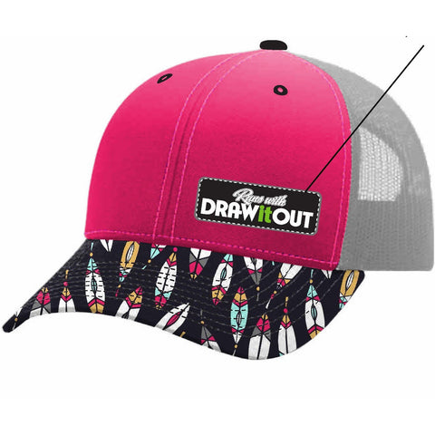 Pink Front Feathers #TeamDiO Hat