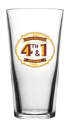 John Riggins 4th & 1 Pilsner Pint Glass