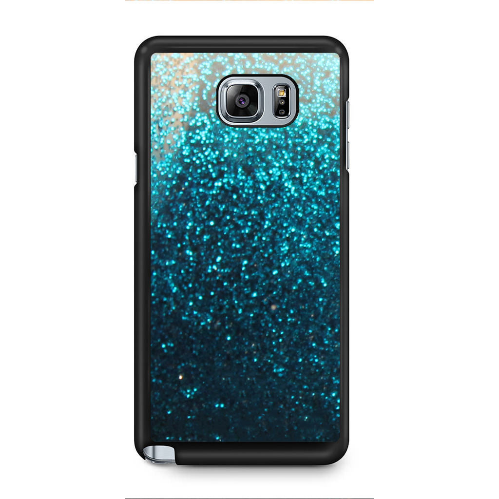 finest selection c9fd5 2bca8 Blue Water Faux Glitter Samsung Galaxy Note 5 Case