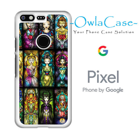 All Princess Disney Stained Glass Google Pixel Case