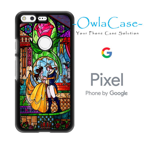 Beauty and The Beast Stained Glass Google Pixel Case