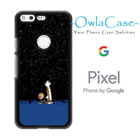 Calvin and Hobbes Starry Night Google Pixel Case