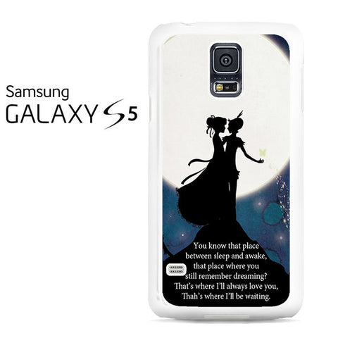 Peter Pan Quote Galaxy Nebula Galaxy S5 Case
