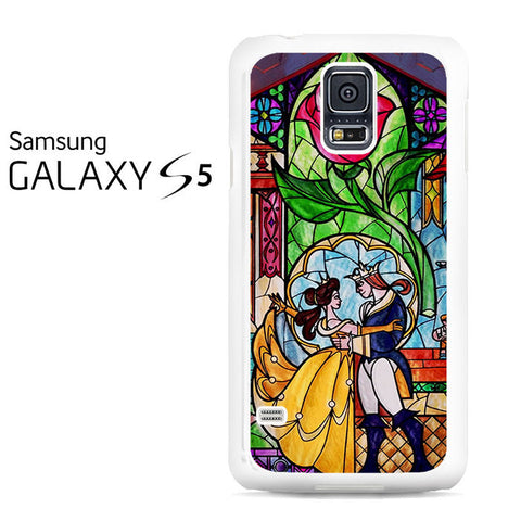 Beauty and The Beast Stained Glass Galaxy S5 Case
