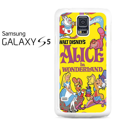 Alice in Wonderland Disney Cover Book Galaxy S5 Case