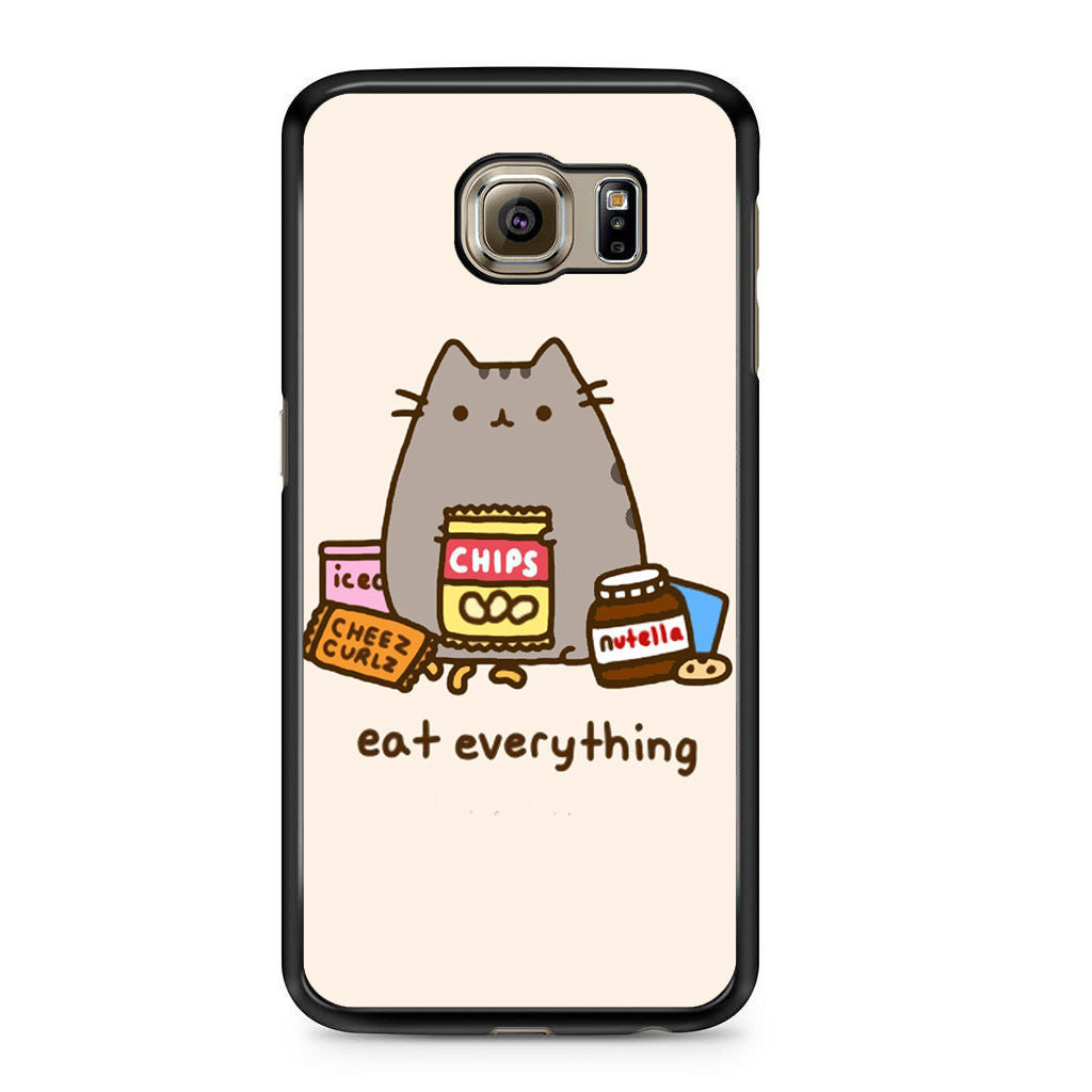 reputable site 0db35 3e48d Pusheen The Cat Eat Every Thing Samsung Galaxy S6 Case