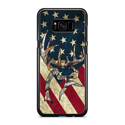 Camo Deer US Flag Samsung Samsung Galaxy S8 Plus Case