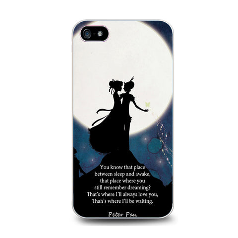 Peter Pan Quote Galaxy Nebula Iphone 5C Case