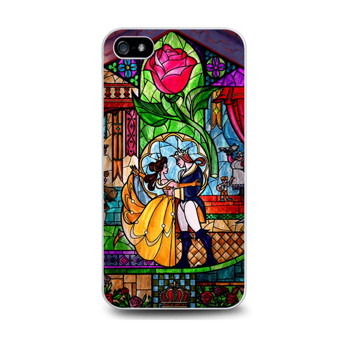 Beauty and The Beast Stained Glass Iphone 5C Case
