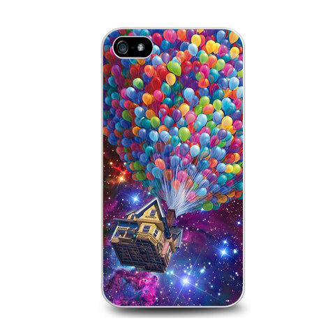 Balloons Flying House in Galaxy Nebula Iphone 5C Case