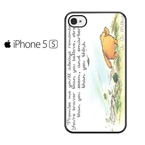 Winnie the Pooh Quote Iphone 5 Case