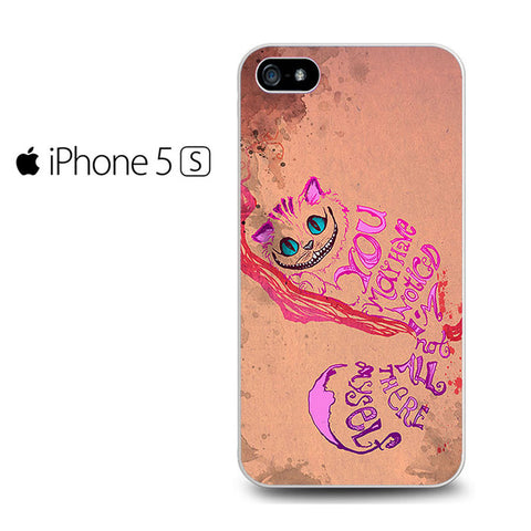 Alice In Wonderland Chelshire Cat Quote Iphone 5 Case