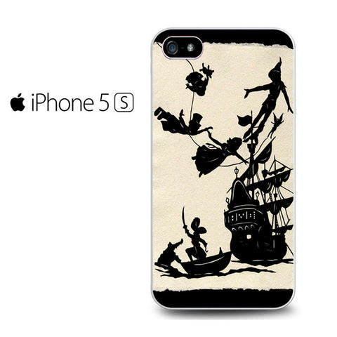 Disney Peter Pan Black and White Pattern Iphone 5 Case