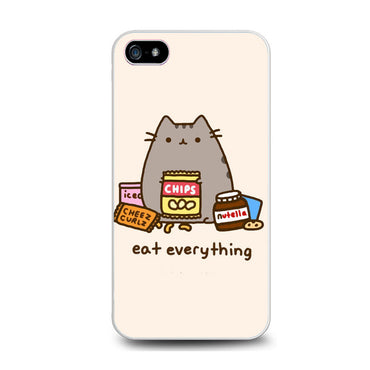 Pusheen The Cat Eat Every Thing Iphone 5 Case