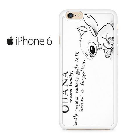 Ohana Means Family - Lilo and Stitch Iphone 6 Case