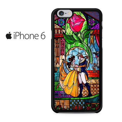 Beauty and The Beast Stained Glass Iphone 6 Case