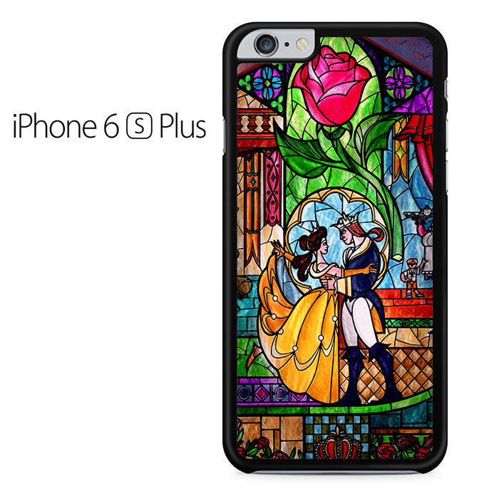Beauty and The Beast Stained Glass Iphone 6 Plus Case
