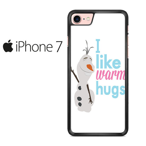 Olaf Frozen Quotes Warm Hug Iphone 7 Case