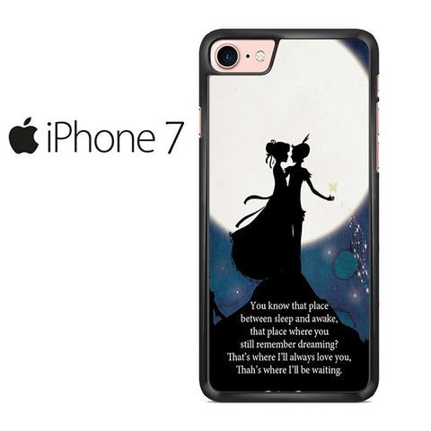 Peter Pan Quote Galaxy Nebula Iphone 7 Case